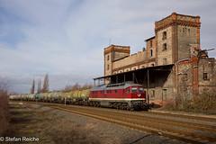 232 088 (Stefan´s Bahnbilder) Tags: lokomotive kessel zug srs gras bäume gebäude v300 dr 5d49