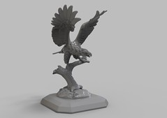 Full-size copy of  eagle statuettes. 3D scanned with the use of  RangeVision Pro 5M. (Top3DShop) Tags: 3d top3dshop 3dmodel 3deagle rangevision 3dscanner rangevisionpro5m greybackground models stock 3dexport cg textures free birds eagle 3dbirds render 3dobject digitalart digital3d 3dart 3dmodelling 3dsca