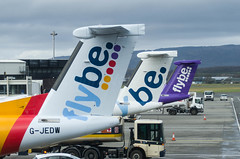 IMGP8043_FlyBE tails_GLA (ClydeSights) Tags: airport dh4 dh8d dhc8402dash8 dehavillandcanada egpf flybe gla glasgowinternationalairport