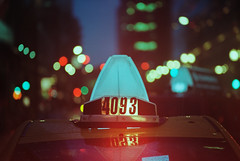 🚕 Taxi Cab 4093 (Jovan Jimenez) Tags: 📷 canon eos rebel t2 nikon 135mm f28 kodak ultramax 400 film 🚕 cab night seriese eseries red lights vintage bokeh analogue analog 300x kiss7 35mm plustek opticfilm 8200i ai