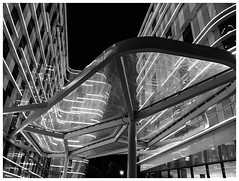 Hotels, Roissy CDG Airport, France [1594] (my.travels) Tags: paris france blackwhite blackandwhite monochrome iphone architecture building night nightphotography light roissy fr