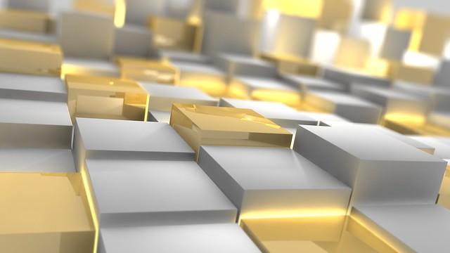 Обои кубы, серебро, золото, форма картинки на рабочий стол, фото скачать бесплатно