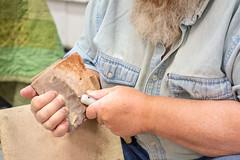 Hand-Making Arrowheads and Blades (4) (WayNet.org) Tags: fossil wayne county photo by jane holman indiana rock kuhlman show richmond gem mineral holmanphotoscom center fairgrounds kuhlmancenter photobyjaneholman photobyjane waynecounty