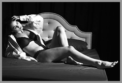 322A7694BWS (Sundance Photos) Tags: woman women blackwhite blancoynegro blackandwhite beauty bnw bw boudoir beautiful bra legs lingere lingerie feet noir noiretblanc noirblanc monochrome portrait sundance sundancephotos sexy schwarzweis sensual shirt blackbackground reclining cleavage bed body