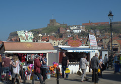 Enjoying Whitby in the Sun (Tony Worrall) Tags: yorkshire yorks scene scenery northyorkshire resort yorkshirephotos east eastern seasidetown holidays tourists coast photographsofwhitby whitbyphotos whitby north update place location uk england visit area attraction open stream tour country item greatbritain britain english british gb capture buy stock sell sale outside outdoors caught photo shoot shot picture captured ilobsterit instragram candid people tourist stalls