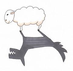 Brebis galleuse (Benoît, simple escargot) Tags: mouton loup dessin draw sheep wolf