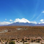The Licancabur and the Juriques Volcanoes, the Atacama Desert, Chile/Bolivia. thumbnail