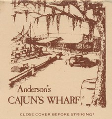 Anderson's Cajuns Wharf - Little Rock, Arkansas (The Cardboard America Archives) Tags: littlerock arkansas vintage matchbook matchcover