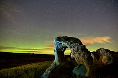 Weird Science (John Andersen (JPAndersen images)) Tags: airdrie alberta aurora bighillsprings canon cold fall farm geology hoodoo night sky