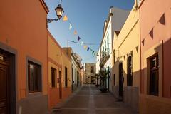 Pastel colours (s_andreja) Tags: spain grancanaria aguimes pastel colours historical town street agüimes