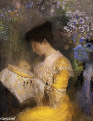 Madame Arthur Fontaine by Odilon Redon (Free Public Domain Illustrations by rawpixel) Tags: art arthurfontaine arts artwork beautiful bloom blossom decor decoration drawing flower flowers french garden hobby illustration lady leisure lilac living madamearthurfontaine marieescudier odilonredon painting paper pastel poster purple redon retro season sewing spring summer vintage woman yellow