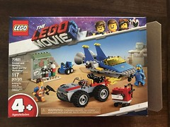 My kids' new building set from the Lego Movie 2. (Travel Galleries) Tags: play children boys kids workshop fix benny 2019 70821 character emmet airplane cat build set building toy 2 movie lego