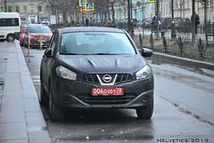 Nissan Qashqai - Russia, diplomatic plate (Helvetics_VS) Tags: licenseplate russia diplomaticplate stpetersburg spain