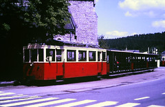 Slide 135-66 (Steve Guess) Tags: tram tramway streetcar strassenbahn strasenbahn трамвай nmvb sncv vicinal belgium belgique belgien belgië бельгия grottes han caves diesel ardennes hansurlesse
