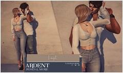 Ardent Poses - Tempt Ad (Ardent Poses) Tags: secondlife second life sl avatar 2nd 2ndlife avi virtual vr 3d inworld poses pose ardent photography people exclusive avatars event love couple couples release new hold broderick logan ena roane enaroane bento advertisement sidewalk sale ardentposes