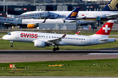 Swiss | Airbus A220-300 | HB-JCG | London Heathrow (Dennis HKG) Tags: aircraft airplane airport plane planespotting staralliance canon 7d 100400 london heathrow egll lhr swiss swissair swr lx bombardier cseries bcs3 cs300 a220 airbus a220300 airbusa220 airbusa220300 hbjcg