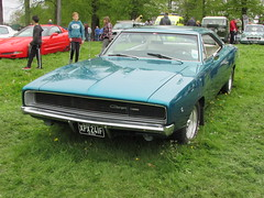 Dodge Charger R/T XPX241F (Andrew 2.8i) Tags: classic classics cars car show singleton park swansea 2015 mopar american v8 muscle coupe rt charger dodge welsh wales uk united kingdom