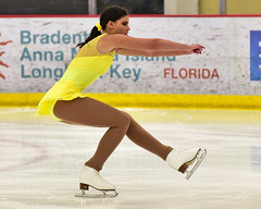 Brilliant (R.A. Killmer) Tags: julie yellow skate show skill skater ice performer beauty graceful costume lemieux center entertainer teen talented girl