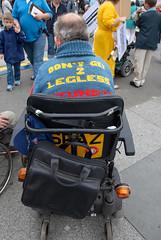 Disability_Demo__DS23804 (hoffman) Tags: british england health infirmity uk unitedkingdom affliction disability disabled disablement disadvantage festival handicap handicapped ill impairment impediment incapacitate incapacitated incapacity indisposition invalidity rights trafalgarsquare weakness wheelchair transport davidhoffman wwwhoffmanphotoscom