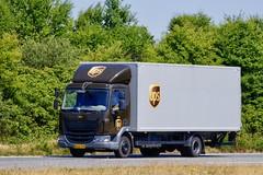 AH51790 (18.07.03, Motorvej 501, Viby J)DSC_3732_Balancer (Lav Ulv) Tags: 254049 daf daflf lfeuro6 lf220 4x2 2014 boxlorry kastenaufbau lukketladkasse ups rigid e6 euro6 brown truck truckphoto truckspotter traffic trafik verkehr cabover street road strasse vej commercialvehicles erhvervskøretøjer danmark denmark dänemark danishhauliers danskefirmaer danskevognmænd vehicle køretøj aarhus lkw lastbil lastvogn camion vehicule coe danemark danimarca lorry autocarra danoise vrachtwagen motorway autobahn motorvej vibyj highway hiway autostrada