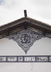 Decorated Wall Of An Old House, Bai Village Of Shaxi, Yunnan Province, China (Eric Lafforgue) Tags: a0007534 architecture asia bai blackandwhite buildingexterior china chineseculture day decoration house nopeople old oldtown ornate outdoor outdoors painted residentialstructure shaxi traditionalculture traditionallychinese traveldestinations vertical village wall yunnan yunnanprovince