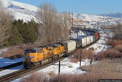 The Sixth of Six (jamesbelmont) Tags: unionpacific mnprv evanstonsubdivision up es44ac ge sd70ace emd railroad railway train locomotive henefer echo utah