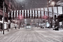(A Great Capture) Tags: agreatcapture agc wwwagreatcapturecom adjm ash2276 ashleylduffus ald mobilejay jamesmitchell toronto on ontario canada canadian photographer northamerica torontoexplore winter l'hiver 2019 city downtown lights urban night dark nighttime cold snow weather cityscape urbanscape eos digital dslr lens canon 70d sigma 1750mm skyline towers tower buildings structure outdoor outdoors outside streetphotography streetscape photography streetphoto street calle neige schnee snowing snowy darkness nocturnal illuminate lighting ttc torontotransitcommission streetcar red rocket redrocket transport