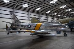 North American F-86E Sabre (Serendigity) Tags: arizona f86e northamerican pimaairspacemuseum sabre tucson usa unitedstates aircraft aviation fighter hangar indoors jet museum unitedstatesofamerica