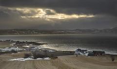 Storm is coming. February by Trondheimsfjord (Trond Sollihaug) Tags: skatval vinge stjørdal trondelag trøndelag trondheimsfjord norway windy seaside fjord ocean storm farm farming winter