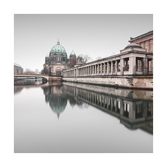cathedral | berlin, germany 2017 (philippdase) Tags: berlin berlincity berlincathedral berlinmitte berlinerdom museumsinsel mutedcolors water winter reflection longexposure fineart cityscape city architecture philippdase pentaxk1 pentax spreeriver