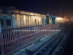 Waiting for Depart (mAAn.Usman) Tags: pakistan railway train station faisalabad flower photography fav getty images usman hanif night clean line maan explore