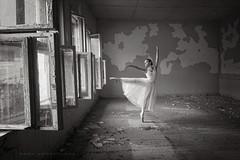 (Dora Apostolova (dority)) Tags: ballet ballerina dance girl gentle dress blackwhite white windows 1635 nikon