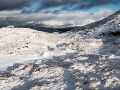 Shadows on the Snow - Feb 2019 (GOR44Photographic@Gmail.com) Tags: glen coe mamores mountains hills highlands beinnachrulaiste scotland snow argyll white winter cloud ben nevis shadows sunlight gor44 panasonic olympus g9 1240mmf28