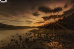Estuary sunset (danielfi) Tags: paisaje landscape naturaleza nature sunset atardecer dusk asturias asturies villaviciosa long exposure larga exposición sol sun ría estuary water agua ngc cielo sky