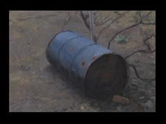 Steel barrel (Bohdan Tymo) Tags: oil painting barrel