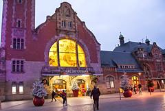 La gare de Colmar (mrieffly) Tags: alsace htrhin colmar gare photodenuit vieuxbâtiment canoneos50d scènederue