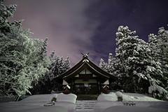 Winter tale -  V (小川 Ogawasan) Tags: japan japon night shrine shinto stars yamagata