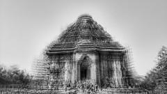 Sun Temple,Konarak (Adithya Ganesan) Tags: konarak temple sun bw multiple exposure monochrome architecture 2018 mobilephotography shotonmoto moto