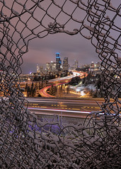 It's Snowing In Seattle! (Paul Scearce) Tags: seattle seattlewa washingtonstate nightphotography nightlights cityscape citylights snow pnw
