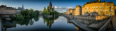 Neuf Temple et la Mosel (Monika Schiefer) Tags: metz france frankreich mosel sommer 2018 panorama abend evening river fluss brücke stadt city travel reisen trip europe cityscape people himmel clouds sky summer nikon d750 pano farben colours colors church kirche pont temple
