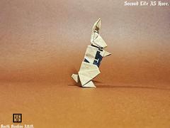 Second Life A5 Hare - Barth Dunkan (Magic Fingaz) Tags: barthdunkan coelho conejo hare hase kelinci konijn lièvre nyúl origami origamihare paper rabbit кролик खरगोश 토끼 ウサギ 兔子