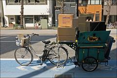 Bicycle Delivery - Asakusa, Tokyo, Japan (TravelsWithDan) Tags: bicycle bike delivery packages bicycletrailer bikelane street tokyo japan asakusa city urban