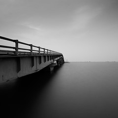 To Jaffna (Chamikajperera) Tags: bnw black white long exposure bridge jaffna sri lanka canon 6d lagoon sea fineart lee filters road