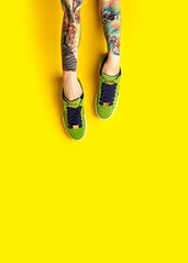 SNEAKER STREET SS'18 (maksimsamsonov) Tags: russia china fashionphotographer fujifilm fuji unsplash mood campaign hands young best top stylist urban style women tattoo wall background yellow legs vogue sport sneaker shoes photographer maksimsamsonov art fashion
