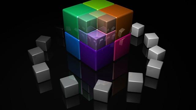 Обои куб, кубики, разноцветный, яркий картинки на рабочий стол, фото скачать бесплатно