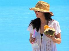 Pineapple drink (thomasgorman1) Tags: drink beverage woman smiling resort candid public pineapple sunhat travel tourism baja sea mexico mx