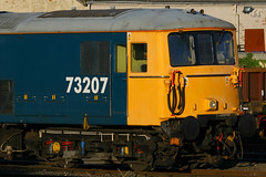 73207, Eastleigh, November 10th 2010 (Southsea_Matt) Tags: 73207 73122 73971 class73 gbrf gbrailfreight englishelectric dieselelectriclocomotive eastleigh hampshire england unitedkingdom november 2010 autumn canon 30d train railway railroad transport vehicle