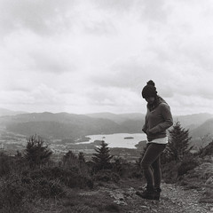 The girl on top of the Dodd... (analoguesouls) Tags: analogue 120mm film filmisnotdead girlsonfilm mediumformat hasselblad 500cm bnw blackwhite lakedistrict cumbria dodd