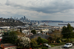 Early Spring Seattle Views 7 (C.M. Keiner) Tags: seattle washington usa city cityscape skyline mountains pacific northwest puget sound spring trees blossoms urban magnolia streetscape cherry