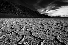 Badwater Basin (NormFox) Tags: bw bnw badlands blackandwhite blackandwhiteartistry california clouds deathvalley desert dry land landscape monochrome mood mountains national nationalpark outdoors park quite senic serene sky valley unitedstatesofamerica us